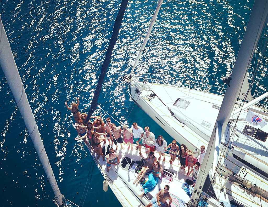 Group photo from top of the mast