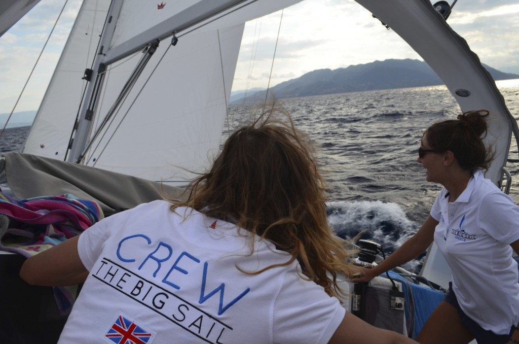 All hands on deck for the final sail back to Athens