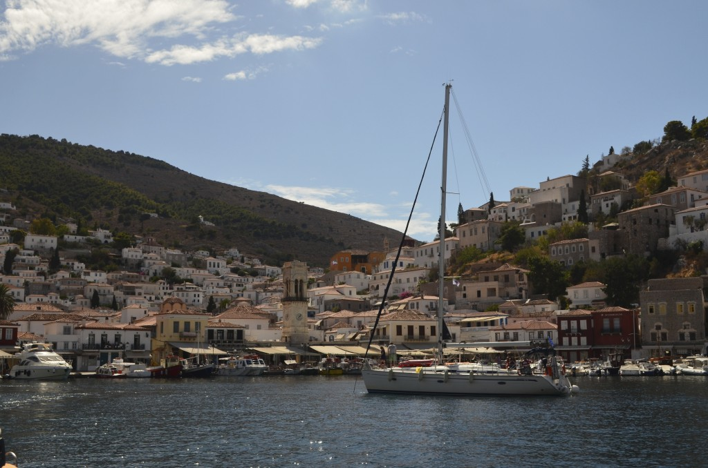 Hydra is the most perfect mediterannean town you will come across. It is so popular you are lucky if you find a spot to moor up!