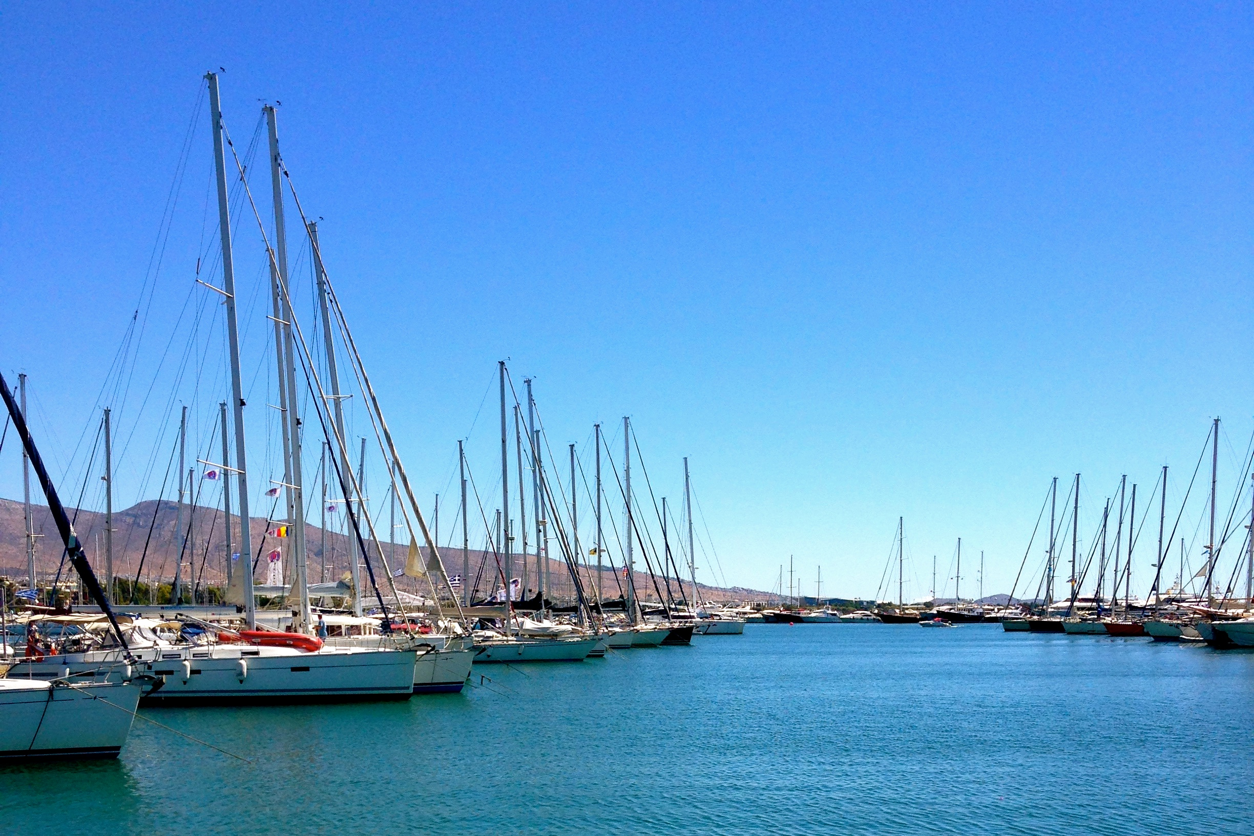 Athens (Alimos Marina) on arrival day with The Big Sail