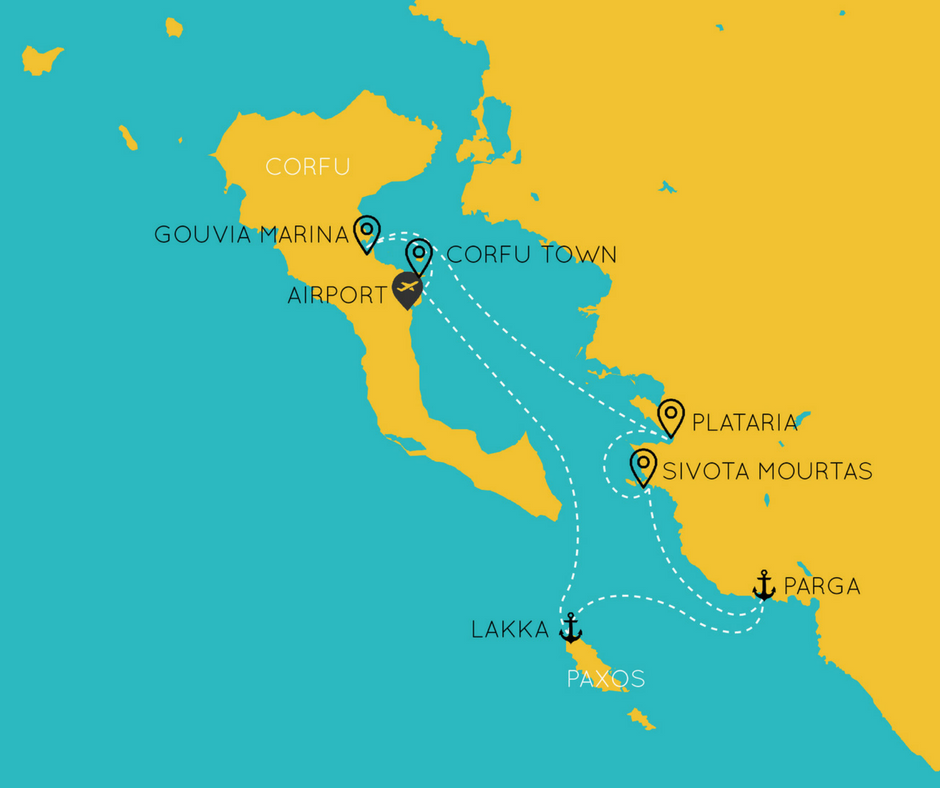 corfu sailing itinerary the big sail