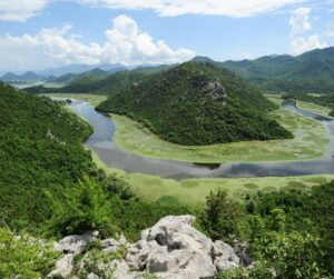 Lake Skadar from above